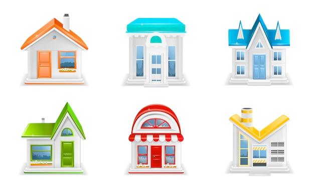 Gebäudeikonenillustration