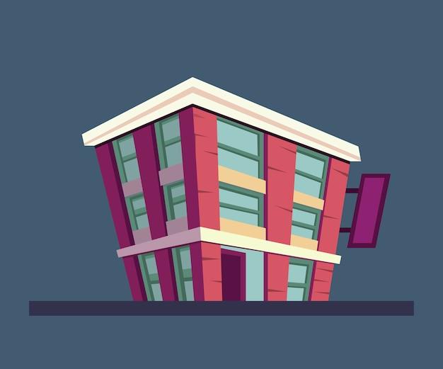 Gebäudeillustration für animationshintergrund