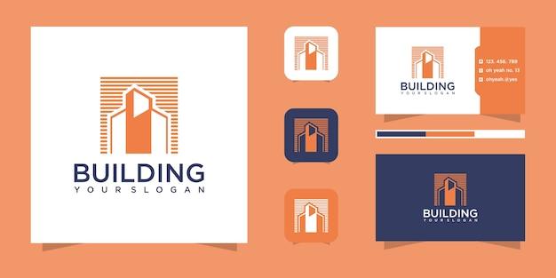 Gebäudelogo und visitenkarte.