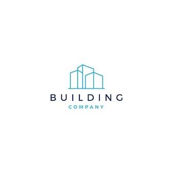 Gebäudelogo-vektorillustrations-ikonendownload