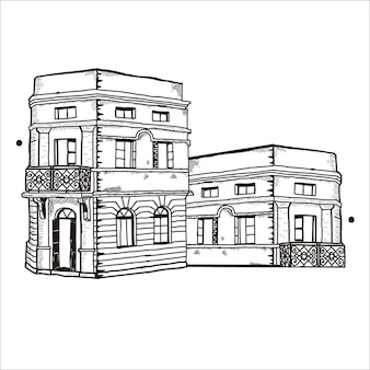 Gebäudeskizze