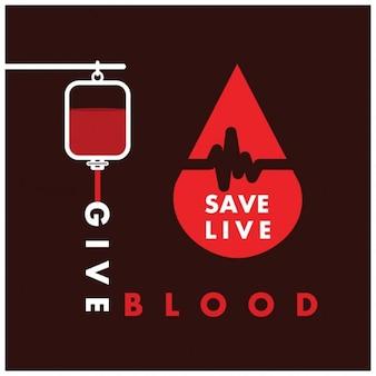 Geben sie blut-save life bluttransfusion konzept
