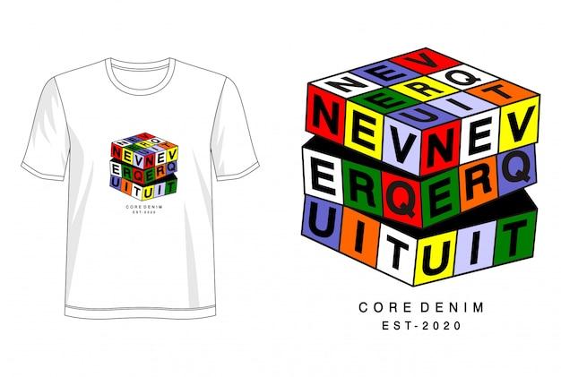 Geben sie niemals die typografie für print-t-shirts auf