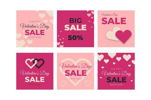 Geben sie sammlung des großen verkaufs des valentinstags bekannt