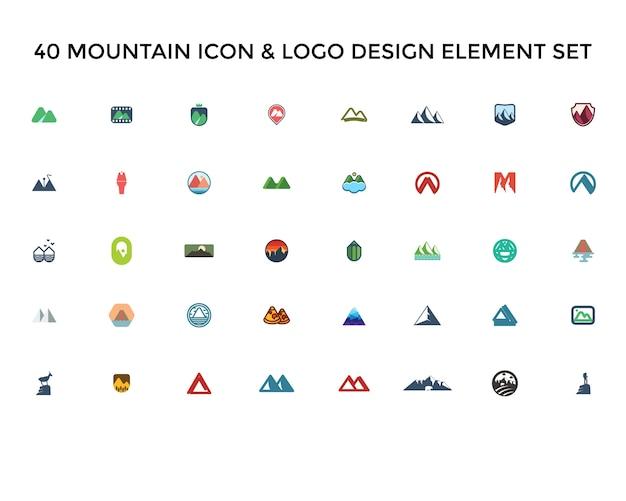Gebirgsikone logo design set
