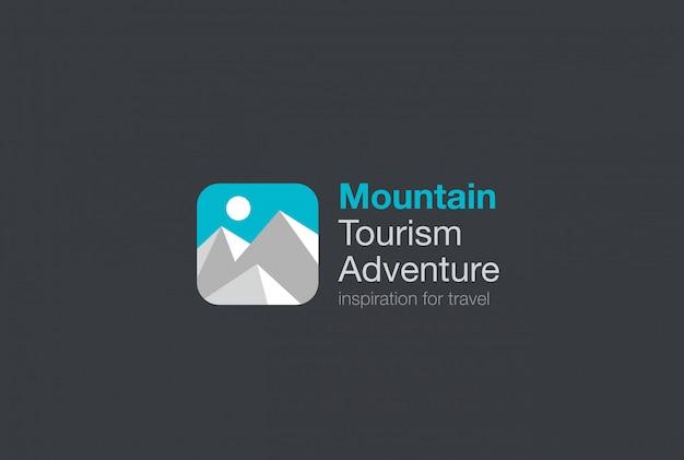 Gebirgsreise-tourismus-logo-vorlage