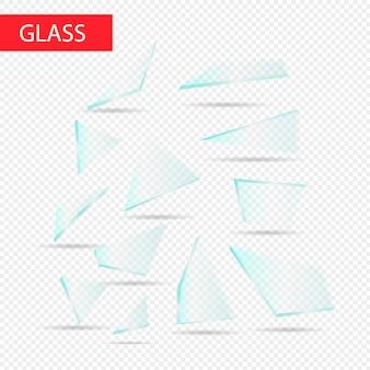 Gebissenes zerbrochenes glas