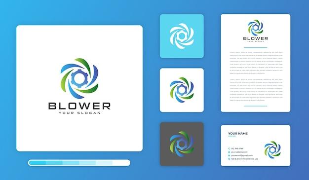 Gebläse logo design vorlage