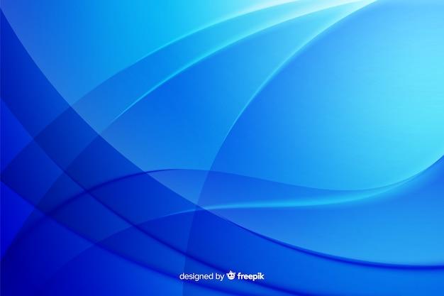 Gebogene abstrakte linien im blauen schattenhintergrund