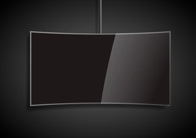 Gebogener bildschirm smart tv