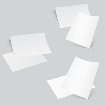Gebogenes eckpapierblatt des flugblatt-3d.