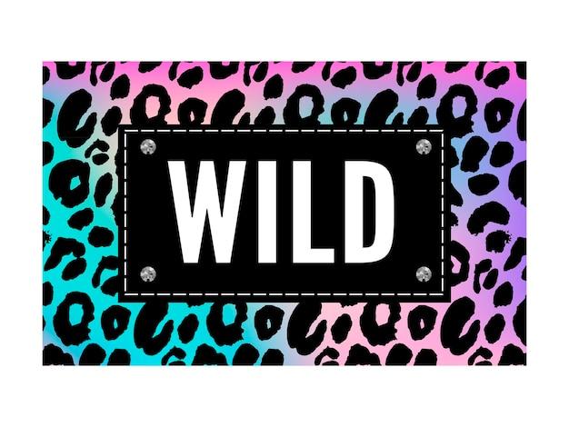 Geboren, um wildtier-slogan-modedruck zu sein