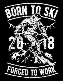 Geboren zum skifahren