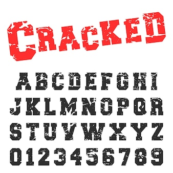 Gebrochene alphabet schriftart