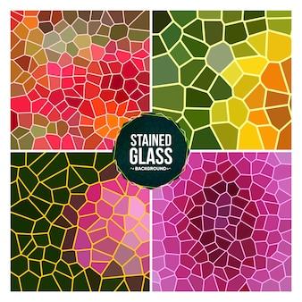 Gebrochener buntglas-mehrfarbenhintergrund eingestellt