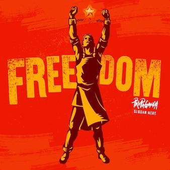 Gebrochenes handschellen das symbol der freiheitsrevolution