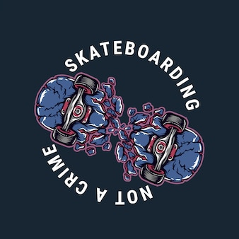 Gebrochenes skateboarding-vektorillustrationsdesign