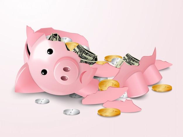 Gebrochenes sparschwein