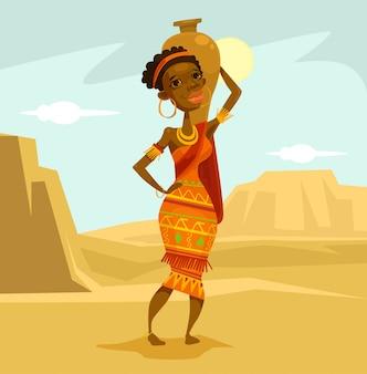 Gebürtige afrikanische frau