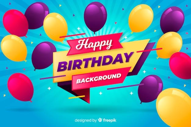 Geburtstag ballon hintergrund