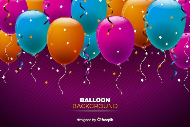 Geburtstag ballons hintergrund