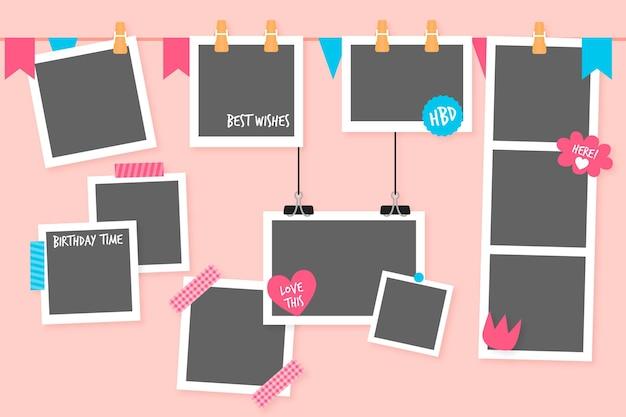 Geburtstag collage frames sammlung
