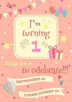 Geburtstag einladungskarte