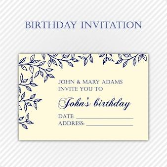 Geburtstag einladungsschablone