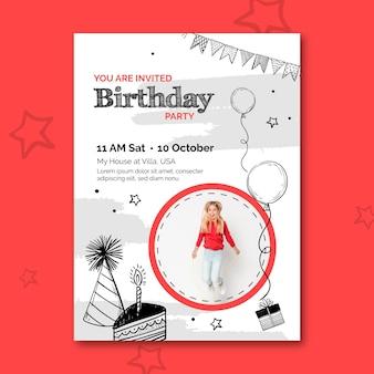Geburtstag flyer vorlage mit foto