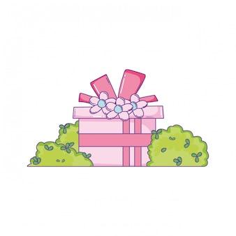 Geburtstag geschenkbox cartoon