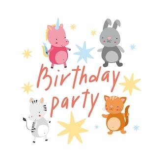 Geburtstag mit tieren