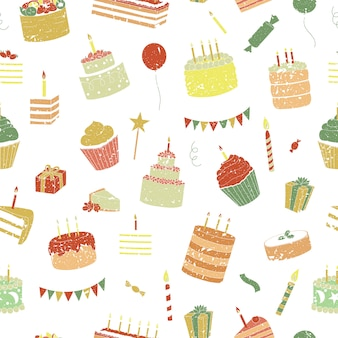 Geburtstag nahtlose muster