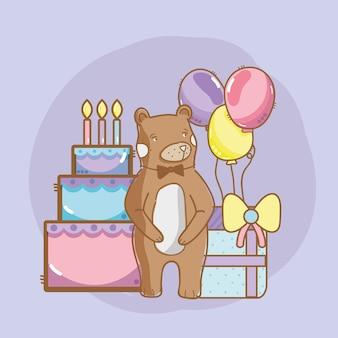 Geburtstag und bären