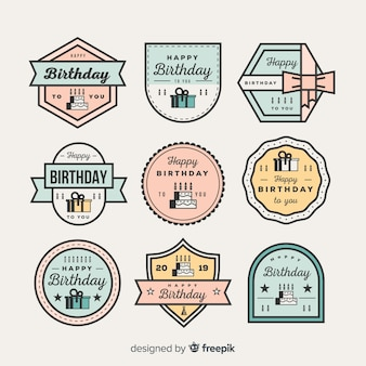 Geburtstags-abzeichen-sammlung