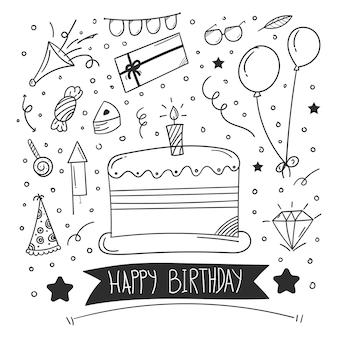 Geburtstags-doodle-element