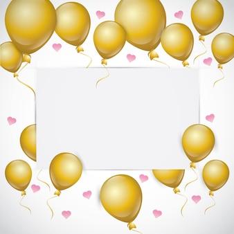 Geburtstags-einladung mit luftballons