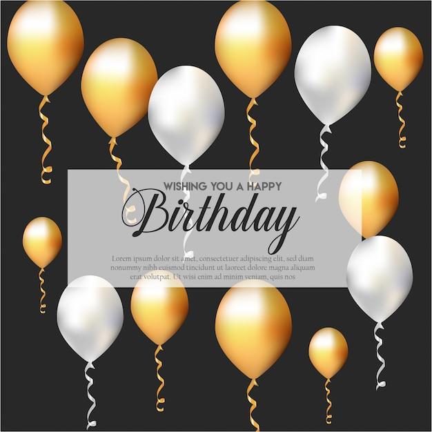 Geburtstags-einladungskarte mit ballonen