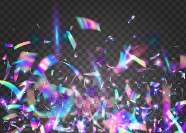 Geburtstags-glitzer. glänzendes element. kristallklarer glanz. fantasie-folie. regenbogen funkelt. surreale kunst. violett-unschärfe-effekt. disco-karneval-gradient. blauer geburtstagsglitter