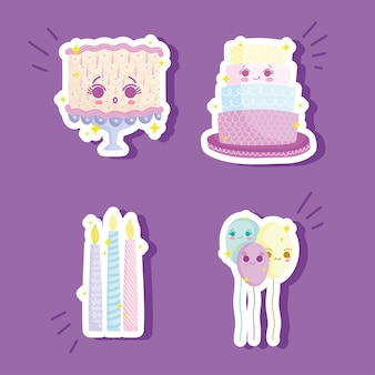 Geburtstags-icon-set