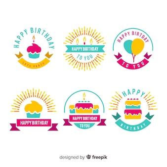Geburtstags-label-sammlung