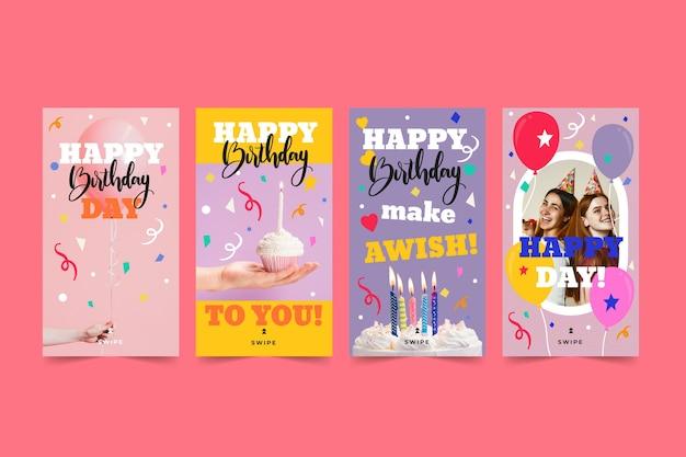 Geburtstags-post-begrüßung in den sozialen medien