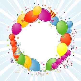 Geburtstags-rahmen mit ballonen