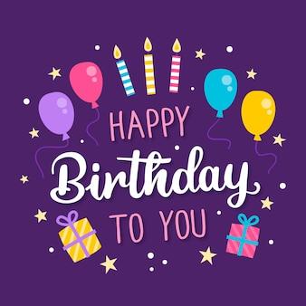 Geburtstagsbeschriftung mit luftballons