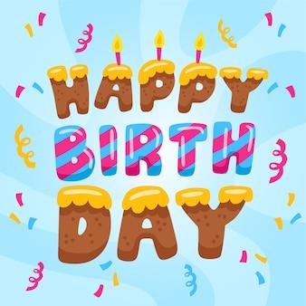 Geburtstagsbeschriftung