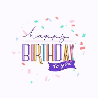Geburtstagsbeschriftungskonzept
