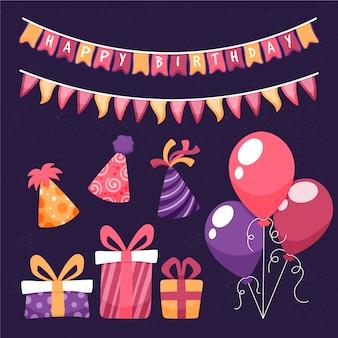 Geburtstagsdekoration gesetzt