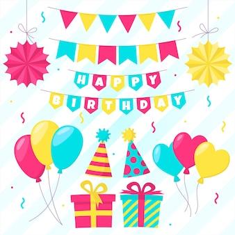 Geburtstagsdekoration und partygeschenkboxen