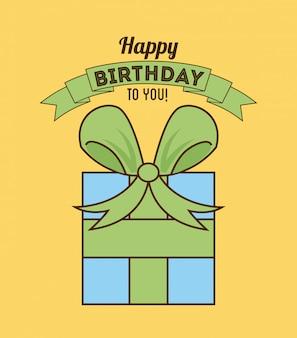 Geburtstagsdesign über sahnehintergrundvektorillustration