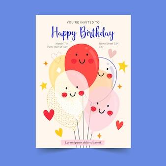 Geburtstagseinladungskartenkonzept