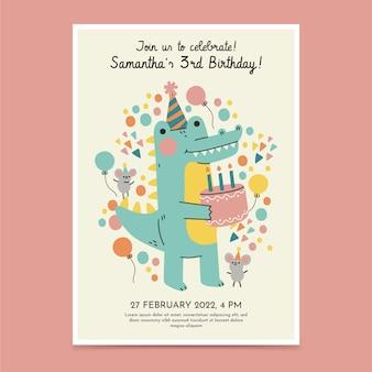 Geburtstagseinladungsschablone für kinder